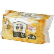 LEC Japan Disney Alcohol-free Disinfectant Wipes 60s x 3  - Belle