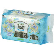 LEC Japan Disney Alcohol-free Disinfectant Wipes 60s x 3  - Alien