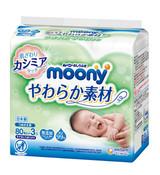 Moony Baby Wipes - Soft Type 80sx8