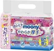 Moony Baby Wipes -  Thick Type 60sx8 *limited edition