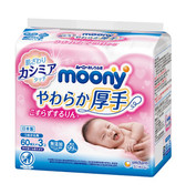 Moony Baby Wipes -  Thick Type 60sx8