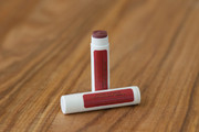 Kiss Me GUAVA BURGUNDY Natural Organic Cocoa Shea Butter Sheer Color Shimmer Lip Balm