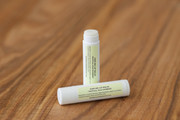 KISS ME Tropical Natural Organic Cocoa Shea Butter Sheer Clear Tiny Bit of Gold Shimmer Lip Balm