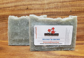 SEA SALT and ORCHID EXFOLIATING PUMICE Organic Shea Butter Avocado Oil Natural Soap