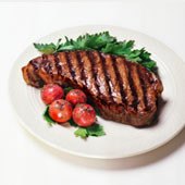 Buffalo New York Striploin - 6 x 10 oz. Steaks