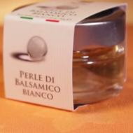 White balsamic pearl bottle
