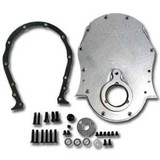 SBC Natural Billet Aluminum Timing Cover Kit
