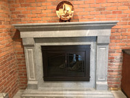 Solid Carved Soapstone Fireplace Mantel - Sforza