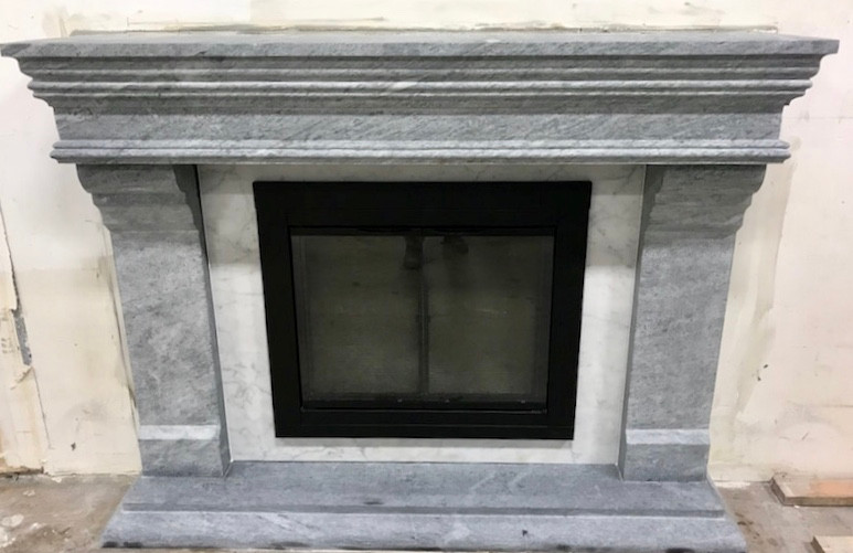 premium selection 8abc8 832b7 Solid Carved Soapstone Fireplace Mantel - Medici