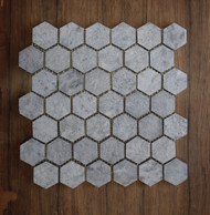 Honed Soapstone  Hexagon Mosaic Tile, 30 Sheets