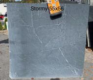 """Stormy Black Soapstone 55"""" x 56"""""""