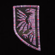 Javran Logo Patch with pink/white/blue embroidery thread