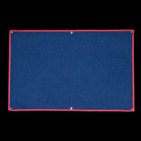 Morale Flag: Red binding, white stitching