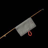 No-Snag Lure Cover: foliage green with neon orange paracord
