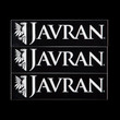 Javran stickers, black