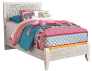Paxberry White Wash Twin Panel Bed