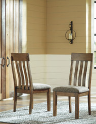 Flaybern Light Brown Dining Upholstered Side Chair (Set of 2)