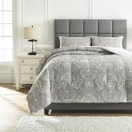 Noel Gray/Tan Queen Comforter Set
