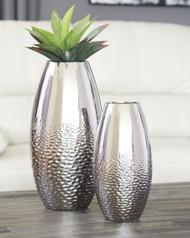 Dinesh Silver Finish Vase Set