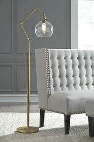 Marilee Antique Brass Finish Metal Floor Lamp (1/CN)