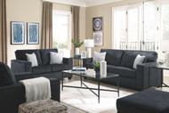 Altari Slate Sofa, Loveseat, Chair, Ottoman & Augeron Table Set