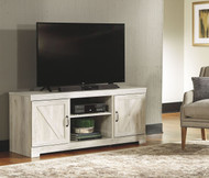 Bellaby Whitewash LG TV Stand w/Fireplace Option
