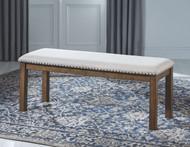 Moriville Beige Upholstered Bench
