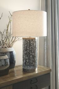 Dayo Gray/Gold Finish Metal Table Lamp (1/CN)