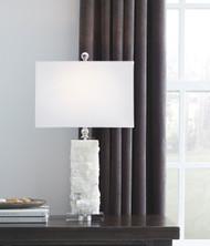 Malise White Alabaster Table Lamp (1/CN)
