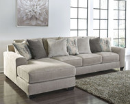Ardsley Pewter LAF Corner Chaise & RAF Sofa Sectional