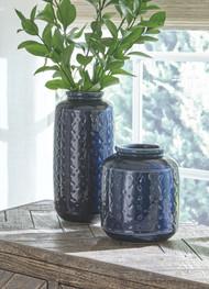 Marenda Navy Blue Vase Set (2/CN)