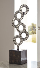 Brevyn Black/Silver Finish Sculpture