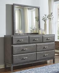 Caitbrook Gray Dresser & Mirror