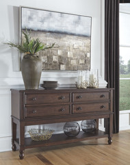 Adinton Reddish Brown Dining Room Server