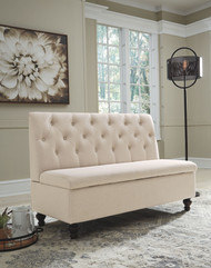 Gwendale Light Beige Storage Bench