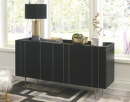 Brentburn Black/Gold Finish Accent Cabinet