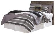 Derekson Multi Gray Full Panel Headboard with Bolt on Bed Frame