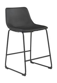 Centiar Black Upholstered Barstool