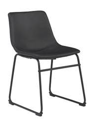 Centiar Black Dining Upholstered Side Chair