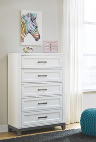 Brynburg White Five Drawer Chest