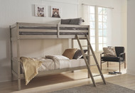 Lettner Light Gray Twin/Twin Bunk Bed w/Ladder