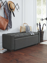 Cortwell Gray Storage Bench