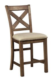 Moriville Gray Upholstered Barstool