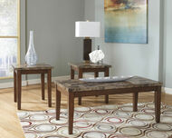 Theo Warm Brown Occasional Table Set