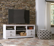 Willowton Whitewash LG TV Stand with Fireplace Option