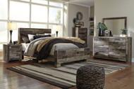 Derekson Multi Gray King Panel Bed