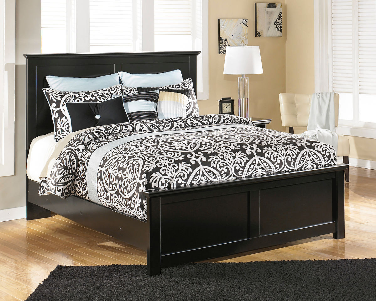 Picture of: The Maribel Black Queen Panel Bed Sold At Managhan S Furniture Serving Libby Mt And The Surrounding Area