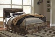 Derekson Multi Gray Queen Panel Storage Bed