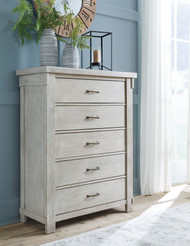 Brashland White Five Drawer Chest