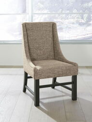 Sommerford Black/Brown Dining Upholstered Arm Chair (2/CN)